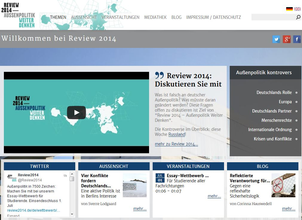 Screenshot www.review2014.de