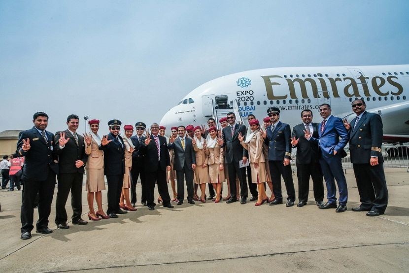 Emirates' A380 was last in India on 12th March at the Indian Airshow in Hyderabad.