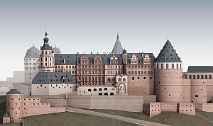 A magnificent residence: Reconstruction of the Heidelberg Castle around 1683. Image: KIT