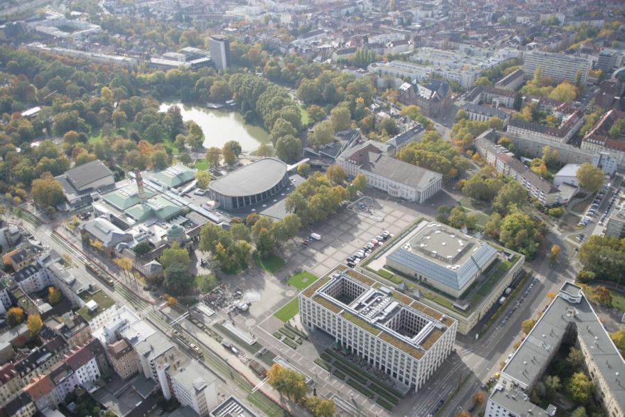 Aerial view on the Festplatz  Photo: KMK
